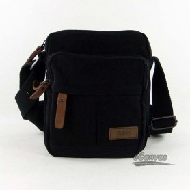 black  cotton thickened canvas bag