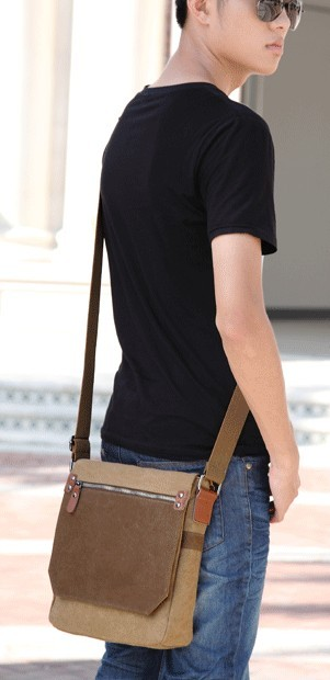 Small messenger bags for men, mens messenger bag - E-CanvasBags