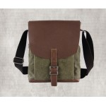 Army green Men's Retro Messenger Bag
