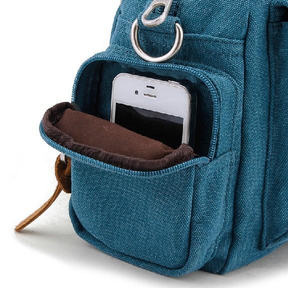 Messenger bag for girls, canvas shoulder bag - E-CanvasBags