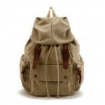 Canvas rucksack backpack for school, canvas backpack