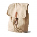 Canvas shoulder bags, Leisure Package genuine leather, black & beige