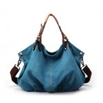 Canvas satchel book bag, cross handbag
