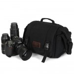 canvas SLR camera bag, DSLRs, 1 Machine 2 lens, waterproof shockproof