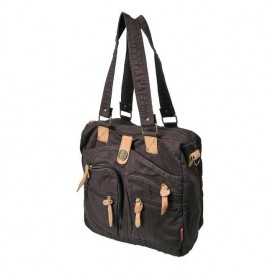 Coffee Cotton canvas shoulder book bag
