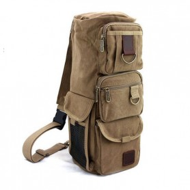 khaki tactical shoulder go pack bag