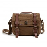 Men's retro messenger bag, Casual canvas shoulder bag
