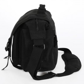 black canvas SLR camera bag