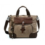 Canvas satchel, cross body handbag