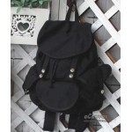 black CASUAL CANVAS BACKPACKS