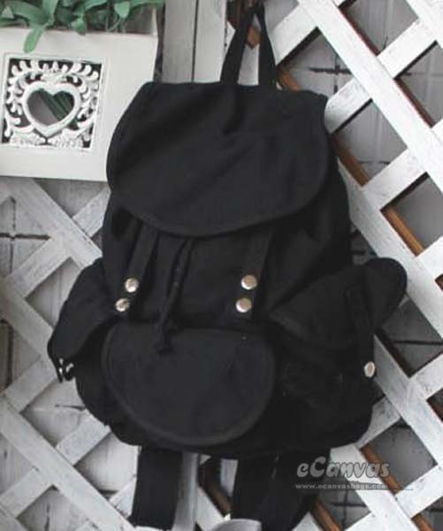 97f6119e2b black CASUAL CANVAS BACKPACKS ...