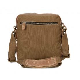 khaki Vertical messenger bags for men