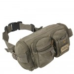Army green waist pack, khaki belly pack, black bum bag