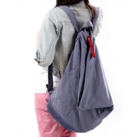 Canvas backpack for girls blue