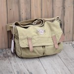 Khaki cross body messenger bag