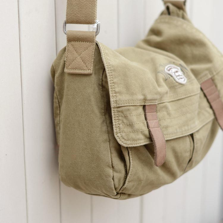 Khaki cross body messenger bag, cool messenger bags for school - E ...