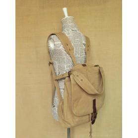 khaki Lightweight School Bag