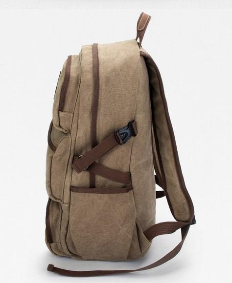 Khaki Canvas Backpack Mens Rucksacks And Backpacks