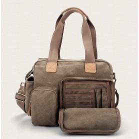 khaki fabric handbag