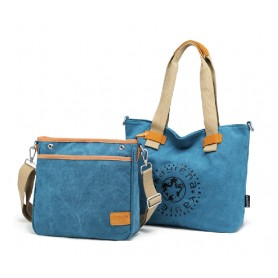 blue Personalized canvas tote bag